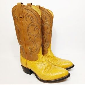 Tony Lama Exotic Western Boot Ostrich Leather